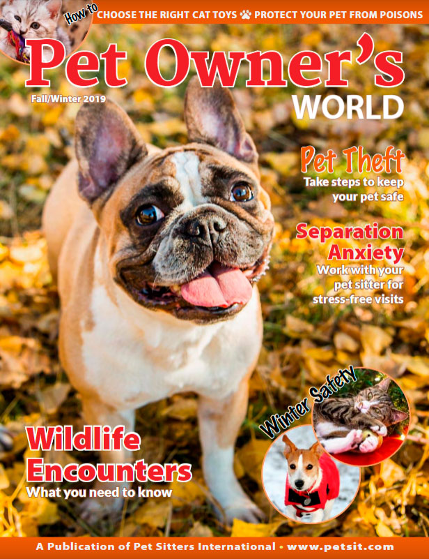 Pet Owner's World Magazine Fall/Winter 2019 issue cover