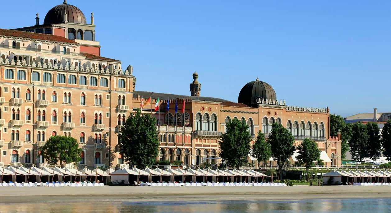 The Excelsior Hotel on the Lido island in Venice