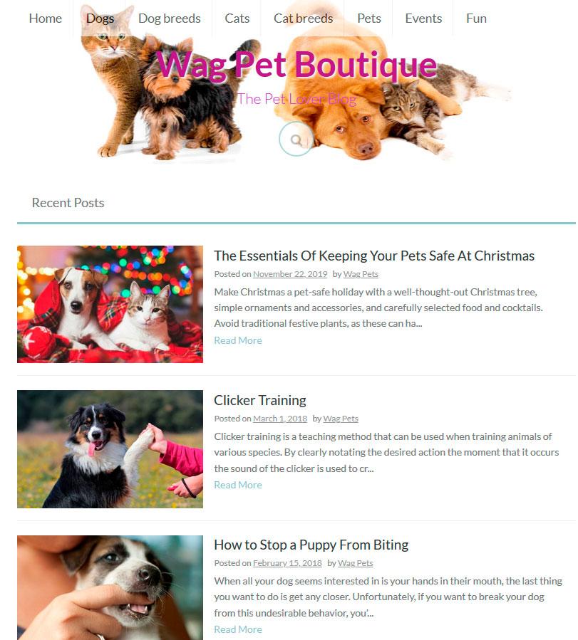 Wag Pet Boutique 2019